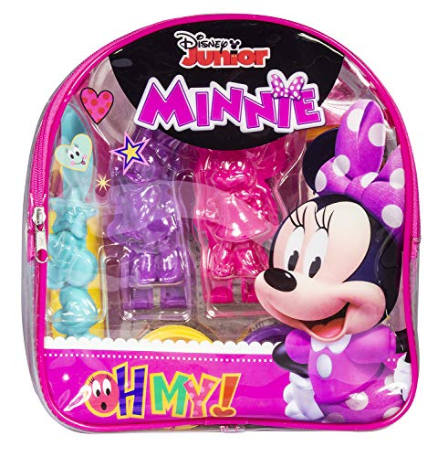 Cra-Z-Art Disney Junior Minnie Mouse Softee Dough Molding Kit with Storage Backpack