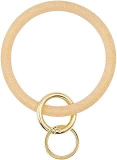 Outrip Wristlet Keychain Bracelet Silicone Keychain Ring Bangle for Women Girls