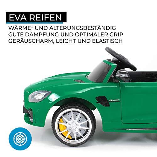 RC Auto kaufen Kinderauto Bild 5: Actionbikes Motors Kinder Elektroauto Mercedes Amg GT-R - lizenziert – 2 x 25 Watt Motor – Ledersitz - Eva Reifen – Softstart - Kinderauto (Rot)*