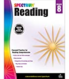 Spectrum 8th Grade Reading Workbook—State Standards Reading Comprehension, Nonfiction Fiction Passages With Answer Key for Homeschool or Classroom (160 pgs)