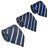 Soumit Cravatte a Righe Uomo, 3 Pezzi Cravatta attività Commerciale per Abito Casual da Uomo, Cravatta a Righe Design di Stile Integrato - Colori a Strisce