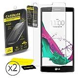CaseBase® - Pack de 2 Protectores de Pantalla de Cristal Templado para LG G4