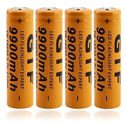 4 PCS 18650 Batterie 3.7V 1800mA 18650 Hochleistungs Akku Wiederaufladbare Li-Ionen-BatterieButton Top Battery Pour für LED-Fernbedienung Elektronische Geräte Spielzeug Digitalkameras