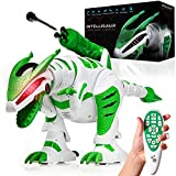 Power Your Fun Intellisaur Remote Control Dinosaur Robot for Kids - Interactive Electronic Pet RC Robot Toy with Touch Sensors to Walk, Talk, Dance, Wag Tail, Launch Darts, T-Rex Roar Battle Mode