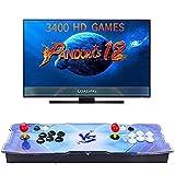 【3400 Giochi Classici】 3D Pandora Box 12 Console Giochi Personalizzazione dei Pulsanti di Supporto e Giochi Multiplayer Arcade Console Alimentazione HDMI e VGA e Uscita USB,1280x720 Full HD
