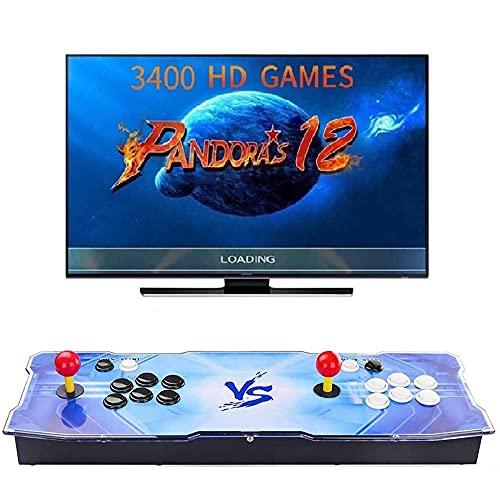 【3400 Giochi Classici】 3D Pandora Box 12 Console Giochi Personalizzazione dei Pulsanti di Supporto e Giochi...