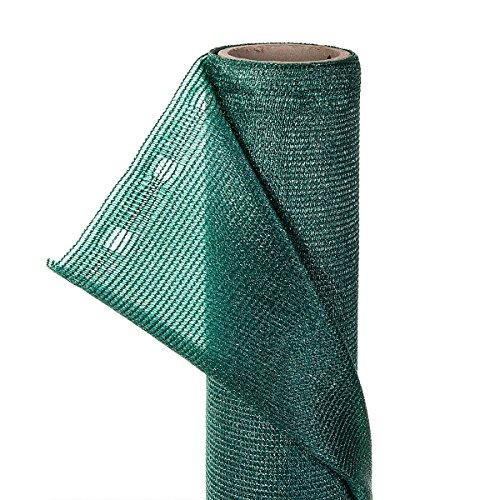 2m² 85% Zaunblende in 1m Breite x 2m mit Knopflochleisten Sichtschutzgewebe Schattiernetz Sonnenschutznetz Sichtblende Schattierungsgewebe