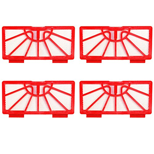 HQRP 4-Pack Filters for Neato Robotics Standard Replacement Vacuum Filter Coaster