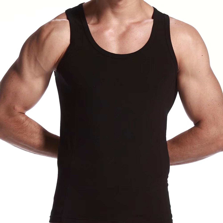 [eleitchtee] タンクトップ メンズ トレーニング ノースリーブ スリーブレス 男性用 インナー スポーツシャツ ストレッチ 006-bsfs-1120706(S ブラック)