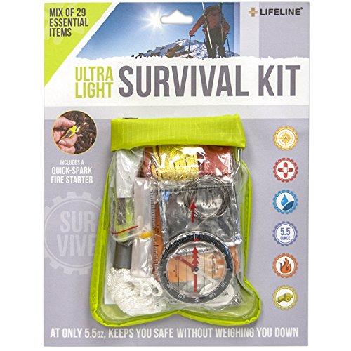 Lifeline Essential Ultralight Survival Kit (29-Piece), Multi Color