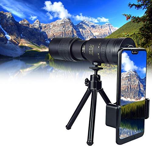 Telescopio monocular HD Starcope de alta potencia 10-300 x 40 mm FMC BAK4 Super Teleobjetivo con soporte para smartphone y trípode, impermeable, para ver la caza, camping, senderismo