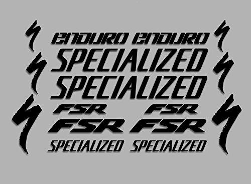 Ecoshirt 60-ZGZB-QLTW Aufkleber Fsr Enduro F41 Vinyl Aufkleber Decal Sticker Decal Decal Sticker MTB Fahrrad schwarz