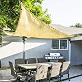ProSource New Sand Color 16' Oversized Sun Shade Sail Shade Canopy Sun Shelter, Tan