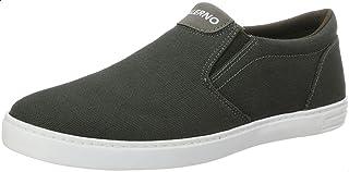 Salerno Textile Round-Toe Elastic Side Panel Slip-on Shoes for Men