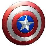 Scudo Capitan America per 75° anniversario, adatto per costume da supereroe, accessorio retrò per Halloween, adulti e bambini, decorazione da parete