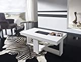 Kasalinea Table Basse relevable Blanc laqué Design COSI