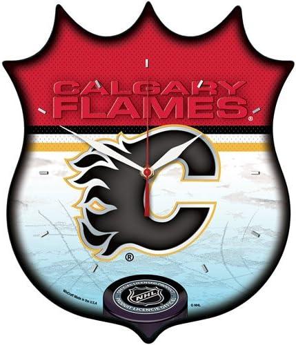 Wincraft Calgary Flames Shield San mart Jose Mall Clock