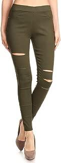 Jvini Women's Pull-On Ripped Distressed Stretch Legging Pants Denim Jean Reg-Plus Size