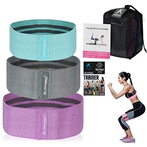 ArrowMax Soft Fabric Resistance Anti Slip Hip Loop Booty Bands for Legs, Glutes and Butt Promotes Weight Loss and Muscle Gain for Physical Therapy for Men and Women