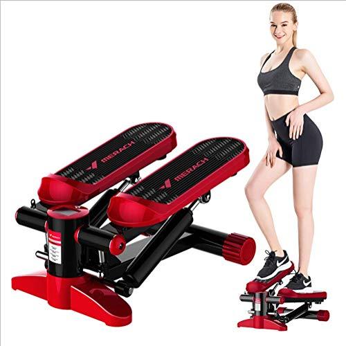 Mini Fitness Hydraulische Stepper, mannen en vrouwen Stepper Cardio Oefening Trainer, Monitor En Banden van de Weerstand Stepper Oefeningen Equipment HRSS