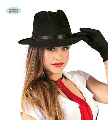 Fiestas Guirca Black Hat avec Une Taille de Ruban Noir