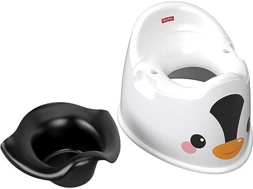 Fisher-Price Pot Pingouin pour bébé avec protection anti-éclaboussures, GCJ80