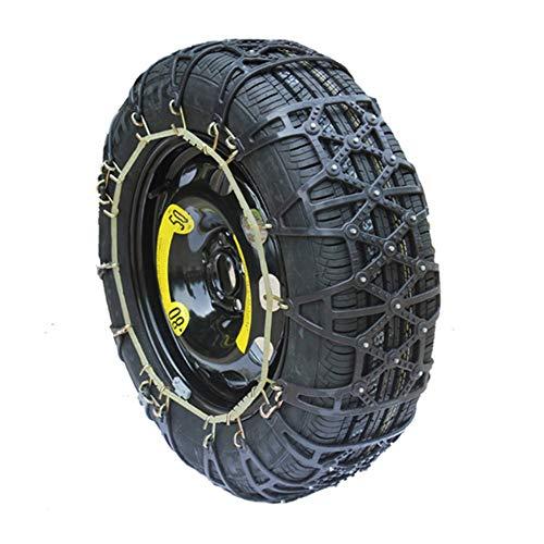 ZP-SNOW Stücke Schneeketten Einfach zu montieren Anti-Rutsch Reifen Schneeketten Universal für Pkw-Reifenbreite 165-285mm