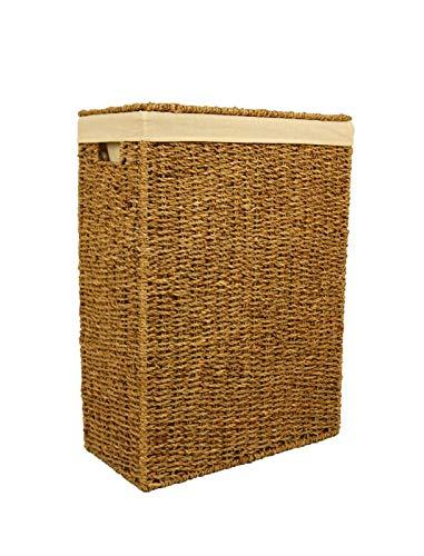 animal-design Nischen-Wäschekorb in versch. Größen, aus Seegras geflochten, Wäschesammler Wäschebox Wäschetruhe Natur Größe:Größe 1