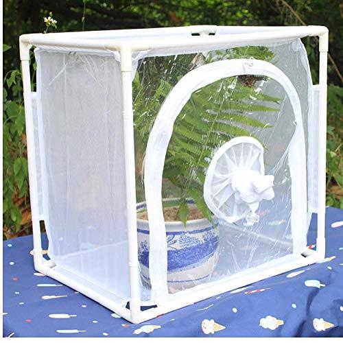 ZYCX123 Hábitat Insectos Jaula del Insecto de Caterpillar Casa Red de Insectos Insectos terrario de Malla de la Jaula Plegable Pop-up con Cierre de Cremallera de Protección de Herramientas de jardín