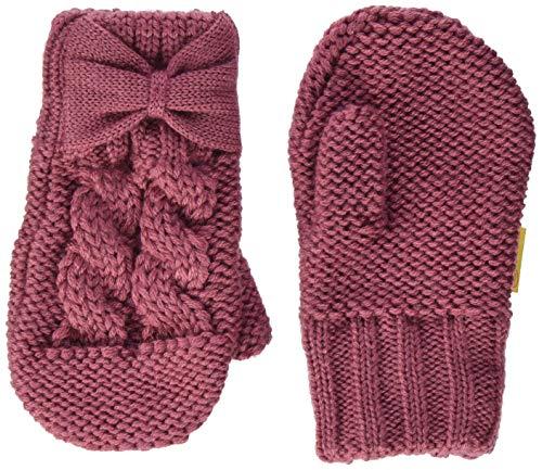 Steiff Mädchen mit süßer Teddybärapplikation Handschuhe, Malaga, 040
