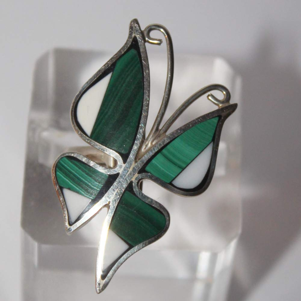 Butterfly ring Fashion Cheap mail order sales malachite cacholong