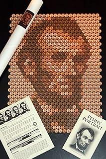 Abraham Lincoln Penny Portrait Kit - Unique DIY Craft Wall Art