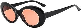 JJLIKER Bold Retro Oval Mod Thick Frame Sunglasses Round Lens Kurt Cobain Clout Goggles Women Men Girl Travel Vacation