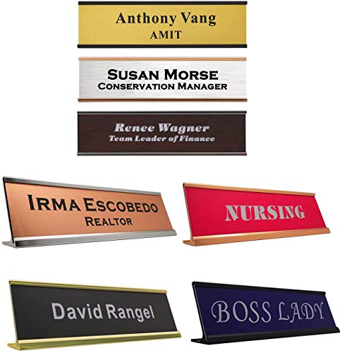 Personalized Name Plate with Wall or Desk Holder -2' x 8' - Customize