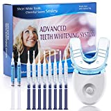 OriHea Teeth Whitening Kit with LED Light, Dental Whitener, 8 Syringes of 3ml 35% Carbamide Peroxide Tooth Whitening Gel, 2 Syringes of Desensitizing Gel, White Smile Set with Mouth Tray