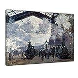 Leinwandbild Claude Monet Bahnhof Saint Lazare in Paris,