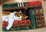 YANRUN Kit de alfombra de gancho para Halloween, kit de lana de...