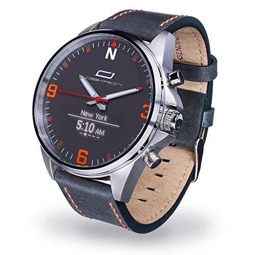 Oskron Gear Herrenschmuckuhr mit Smartwatch Funktionen 001-blau