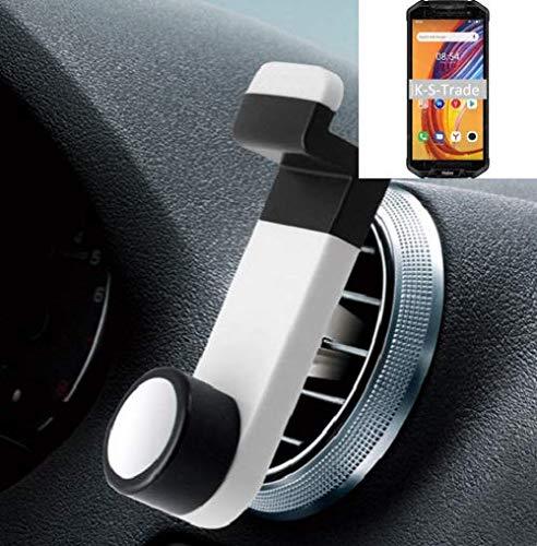 K-S-Trade Smartphone Halterung Autohalterung Kompatibel Mit Haier Titan T3 Lüftungshalterung Handy Halter Lüftungsgitter Smartphonehalterung Weiß