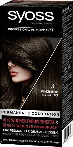 SYOSS Professional Performance, permanente Coloration, hochwertige Haarfarbe 3_1 Dunkelbraun, 3er Pack (3x 115ml)