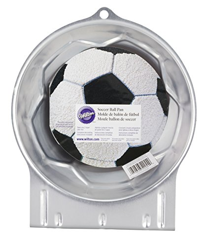 Wilton Soccer Ball Cake Pan, Durable Aluminum Heats Evenly and Holds its Shape After Use