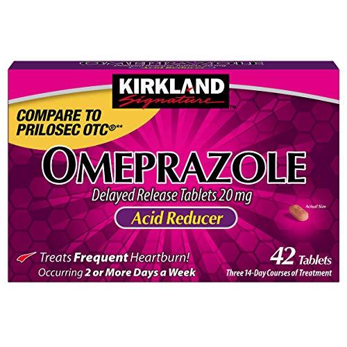 Lot of 2 Kirkland Omeprazole 20mg {42 Tablets x 2= 84 Tablets} Acid Reducer