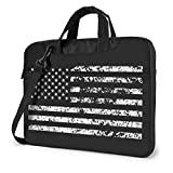 USA Flag Laptop Bag Compatible with 13-15.6 Inch MacBook Air, MacBook Pro, Notebook Computer, Shoulder Messenger Bag Carrying Handbag 15.6 Inch