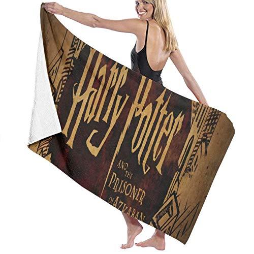 Harry Potter Toallas Múltiples Color Microfibra Toalla de Baño Deportes Toalla de Cara Personalizable Impresión Toallas de Baño Tamaño 80x130 cm