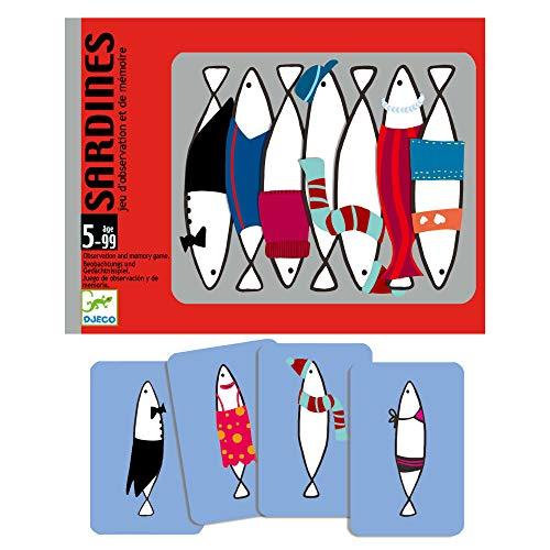 DJECO Jeu de Cartes Sardines