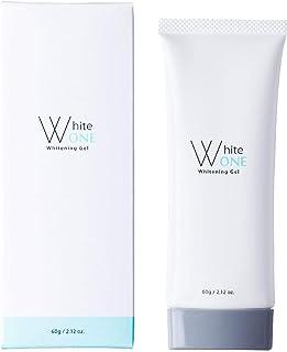 【医薬部外品】WhiteOne(ホワイトワン)オールインジェル シミ 乾燥小じわ 60g 1回15秒 1本6役のオールインワンジェル 6つの無添加処方 【アルブチン フラバンジェノール スクワラン配合】 日本製