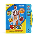 Boxiki kids Human Body Book | Human Anatomy for Kids | Activity Books for Kids Ages 3 and Older | Science Books for Kids | Kids Educational Toys | Baby Learning Toys