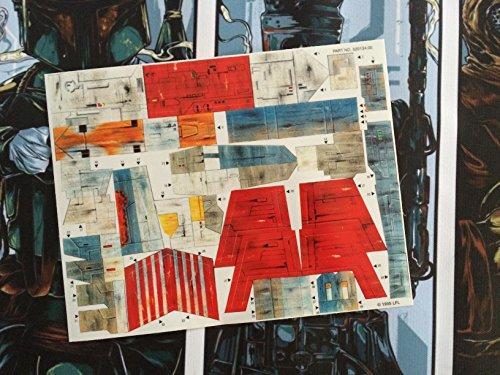 Star Wars Vintage Custom Repro troquelado pegatinas calcomanías etiquetas 1995x ala–electrónico 1995POTF X-Wing