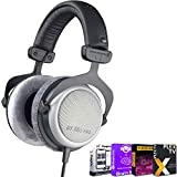 beyerdynamic 490970 DT-880 Pro Headphones 250 Ohm Bundle with Tech Smart USA Audio Entertainment Essentials Bundle 2020