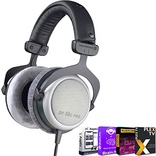 beyerdynamic 490970 DT-880 Pro Headphones 250 Ohm Bundle with Tech Smart USA Audio Entertainment Essentials Bundle 2020